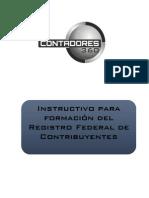 Instructivo para formación del Registro Federal de Contribuyentes