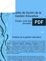 Niveles de Acción de la Gestión Educativa