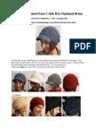 Slouchy Faux Cable Hat Optional Brim Tutorial