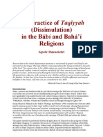 The Practice of Taqiyyah