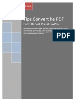 Tips Form Report Visual FoxPro ke PDF