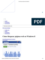 Cómo bloquear páginas web en Windows 8