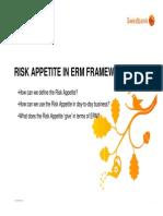 Risk Appetite in Enterprise Risk Management Framework