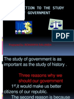 Introduction to the Study of Government