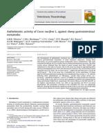API Anthelmintic Activity of Cocos Nucifera