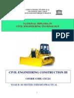 Cec 211-Civil Engineering Construction III