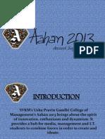 Aahan 2013 Presentation