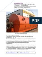 Advantages of 5th G Waste Tyre Pyrolysis Machine2014.2.21