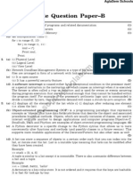 CBSE Sample Paper for Class 11 Computer Science - Set B