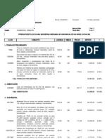 Presupuesto Casa Habitacion Febrero 60 m2 2011