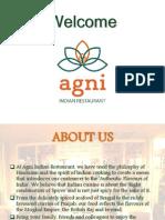 Agni Indian Resaturant - Take Away Menu