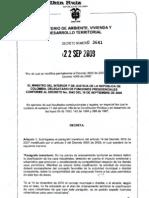 Decreto 3641 220909 Deroga 3600 y 4066 Usos ales