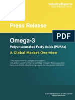 Global Omega-3 Market to Grow by 12% (2013-2020) to Reach $5 billion by 2020