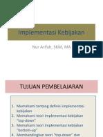 Powerpoint Implementasi Kebijakan 15Nov2013