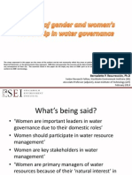 The role of gender and women's leadership in water governance