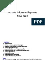 Analisa Informasi Laporan Keuangan