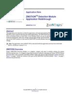 ZMOTION Detection Module Application Walkthrough