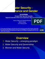 Water Security -Governance and Gender