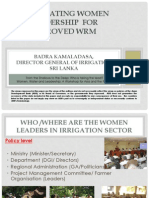 Facilitating Women Leadership for Improved Water Resource Management