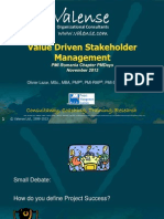 Value Driven Stakeholder Management