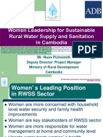 Women Leadership for Sustainable Rural Water Supply and Sanitation in Cambodia