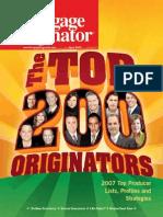 Top 200 Mortgage Loan Originators