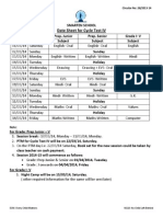 Date sheet for cycle test IV