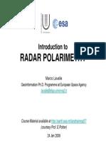 Radar Polarimetry
