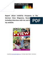 Celebrity Passports in the German ViewMagazine