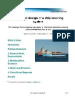 Mooring of Ships