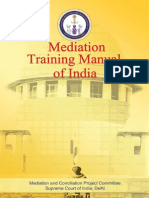 Mediation Training Manual of India