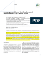 Antihyperglycemic Effects of Short Term Resveratrol Supplementation in Type 2 Diabetic Patients