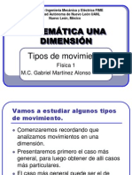 3. CINEMATICA Tipos de Movimiento