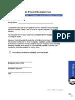 WA State Official OSHA Hepatitis B Vaccine Declination Form BBP-HT-5