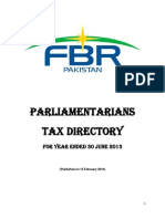 Pakistan Parliamentarians Tax Directory TY-2013
