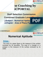 SSC CGL Numerical Aptitude Area of Plane Figures