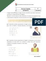 Ficha de Trabalho Equacoes Do 1o Grau