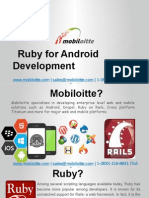 Ruby on Android Apps Development Services