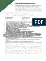Registro anual de Calificaciones de la Educación Media