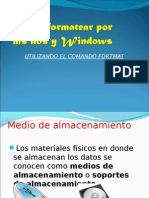 Como Formatear Por Ms Dos y Windows