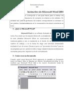 Instructivo de Microsoft Word Aj 2013