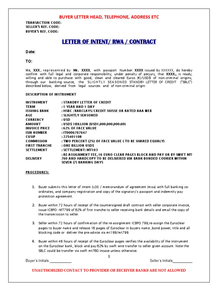 Hsbc 1billon Euro e Clear 16 Pages of Sblc 62+2% Loi | Euro
