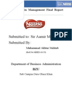 Mehtab Nestle Project
