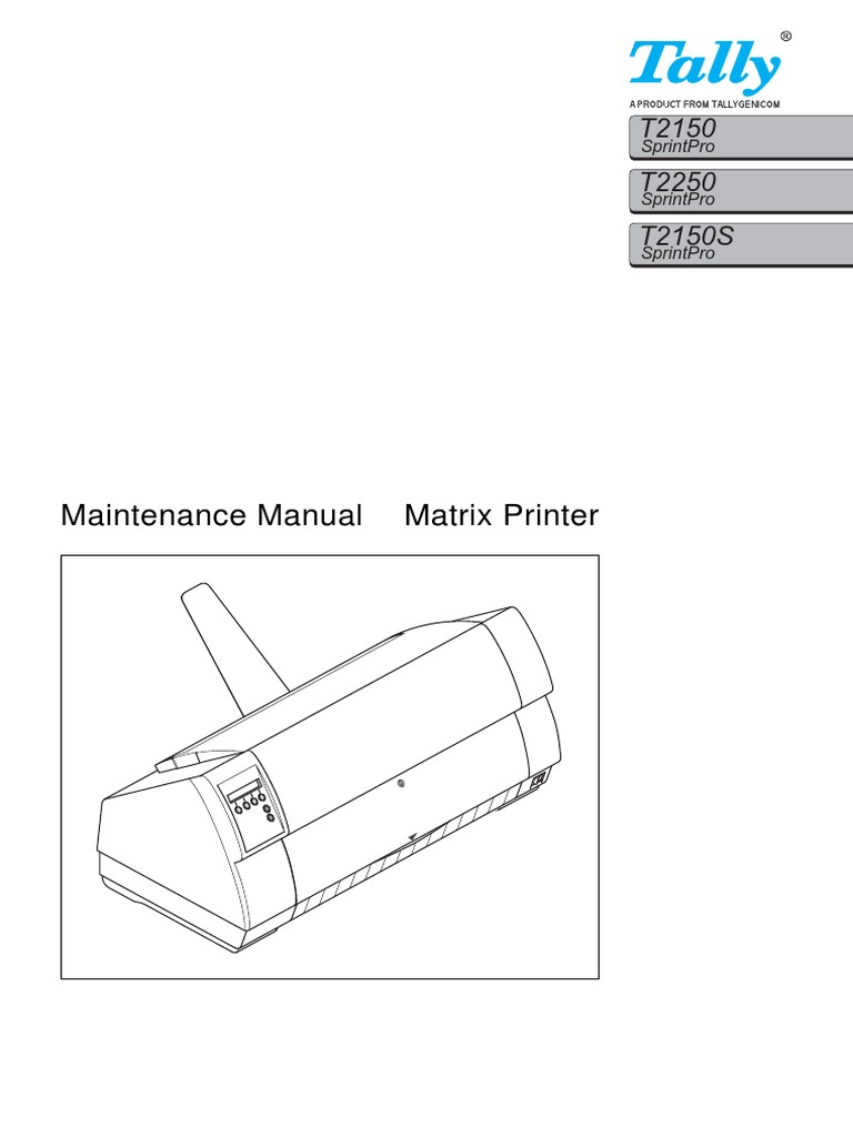 Tally dot matrix printer t6045 and 6050 supplement parts and.