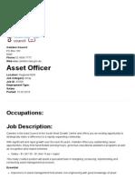 Asset Officer