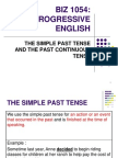 The Simple Past and Past Continuous Tense
