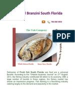 Seafood Branzini South Florida