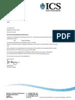 ics registration letter
