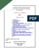 Trabajo de Matematica Financiera i Presentado Por Flores Calcina Alain David