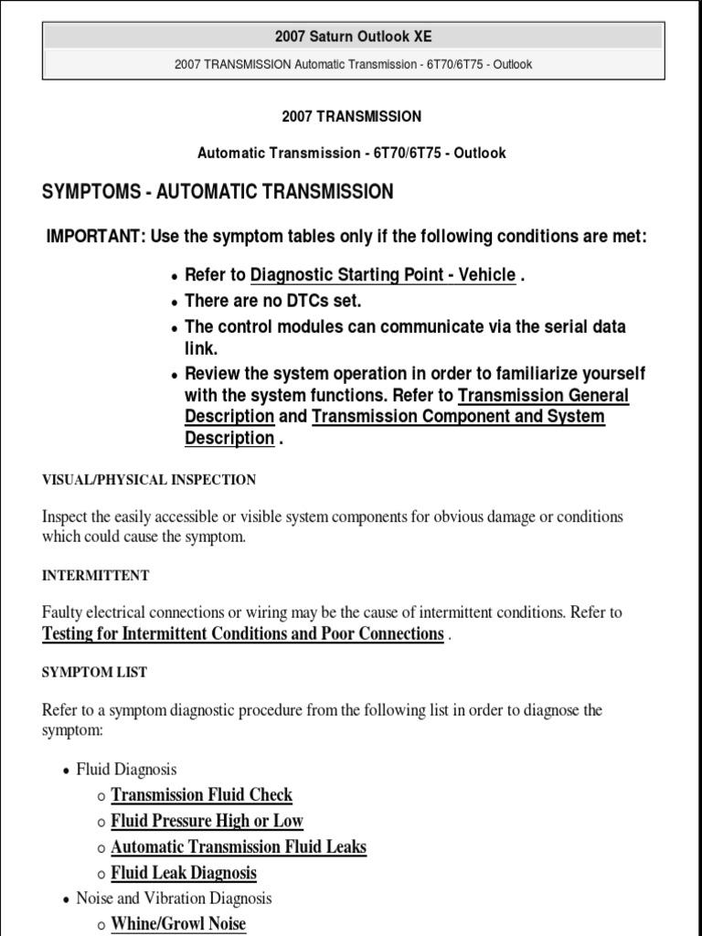 Auto Transmission | Manual Transmission | Automatic Transmission
